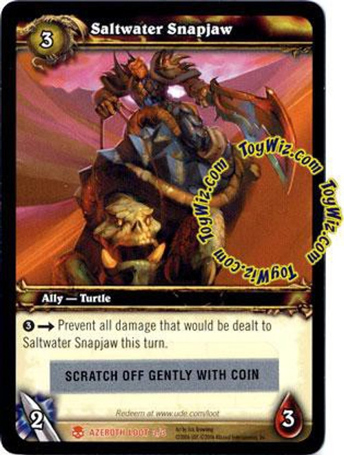 World of Warcraft Trading Card Game Heroes of Azeroth Saltwater Snapjaw Loot Card #3