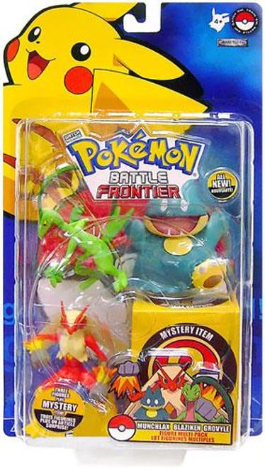 Pokemon Battle Frontier Series 1 Munchlax, Blaziken & Grovyle Figure 3-Pack