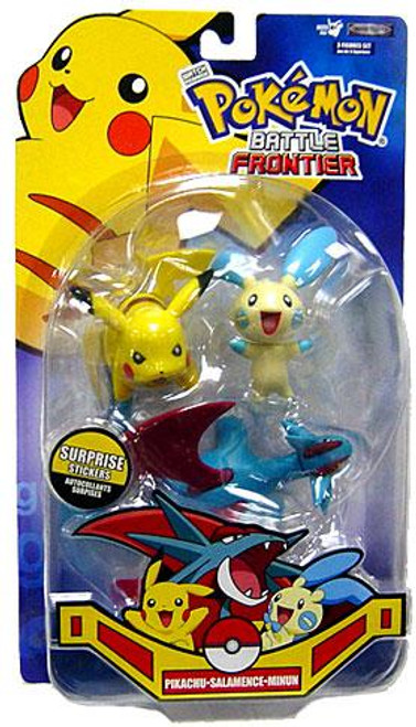 Pokemon Battle Frontier Series 2 Pikachu, Minun & Salamence Figure 3-Pack