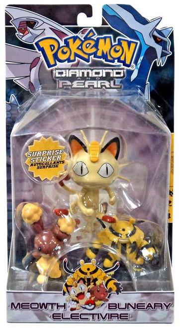Pokemon Diamond & Pearl Series 1 Meowth, Buneary & Electivire Figure 3-Pack