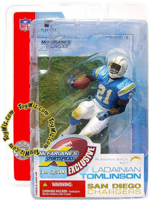McFarlane Toys NFL San Diego Chargers Sports Picks Exclusive Ladainian Tomlinson Exclusive Action Figure [Super Bowl XXXVII]