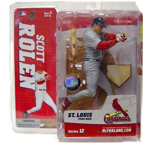 McFarlane Toys MLB St. Louis Cardinals Sports Picks Series 12 Scott Rolen Action Figure [Gray Jersey Variant]