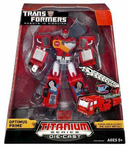 "Transformers Robots in Disguise TItanium Series Optimus Prime 6-Inch 6"" Diecast Figure"