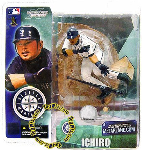 McFarlane Toys MLB Seattle Mariners Sports Picks Series 4 Ichiro Suzuki Action Figure [White Jersey Variant]