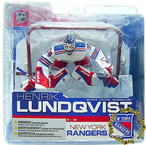 McFarlane Toys NHL New York Rangers Sports Picks Series 13 Henrik Lundqvist Action Figure [White Jersey Variant]