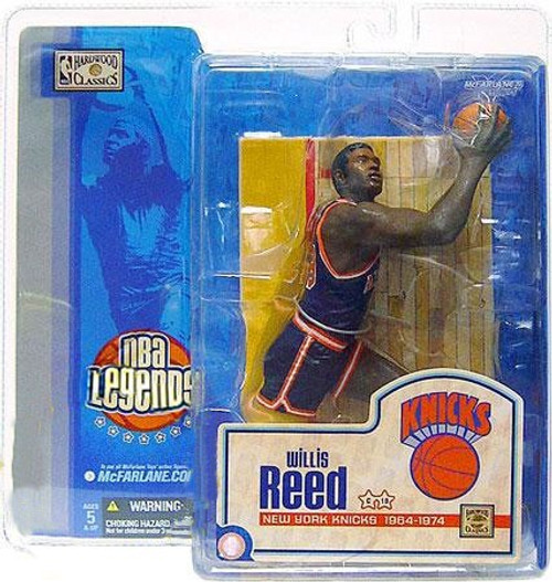 McFarlane Toys NBA New York Knicks Sports Picks Legends Series 1 Willis Reed Action Figure [Blue Jersey Variant, Damaged Package]