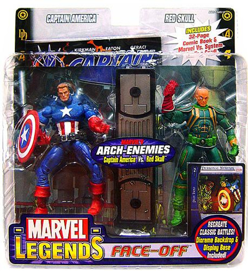 Marvel Legends Face Off Series 1 Captain America vs. Baron Strucker Action Figure 2-Pack [Unmasked Variant]