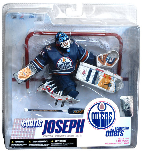 McFarlane Toys NHL Edmonton Oilers Sports Picks Series 14 Curtis Joseph Action Figure [Retro Blue Jersey]
