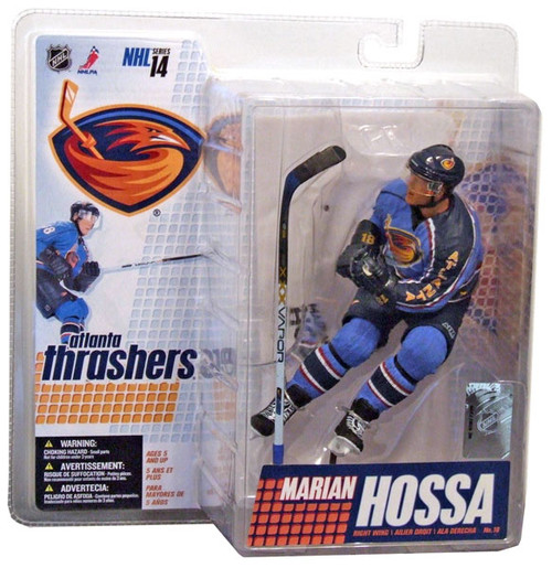 McFarlane Toys NHL Atlanta Thrashers Sports Picks Series 14 Marian Hossa Action Figure [Blue Jersey]