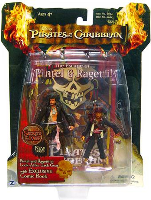 Pirates of the Caribbean Dead Man's Chest Series 3 Pintel & Ragetti in Look-Alike Jack Gear Action Figure 2-Pack
