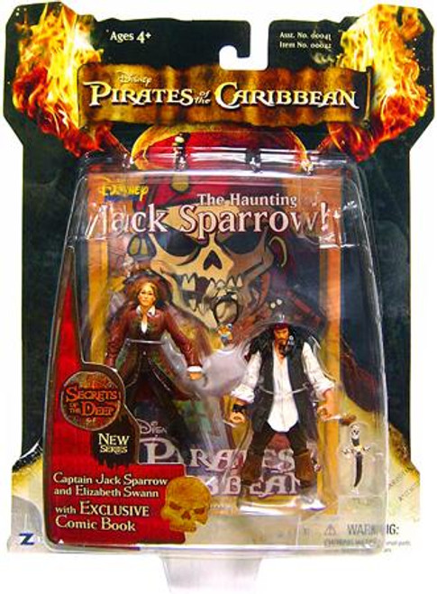 Pirates of the Caribbean Dead Man's Chest Series 3 Captain Jack Sparrow & Elizabeth Swann Action Figure 2-Pack