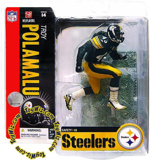 McFarlane Toys NFL Pittsburgh Steelers Sports Picks Series 14 Troy Polamalu Action Figure [Snow on Field Variant]