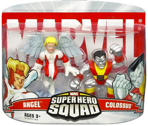 Marvel Super Hero Squad Series 1 Colossus & Angel Action Figure 2-Pack