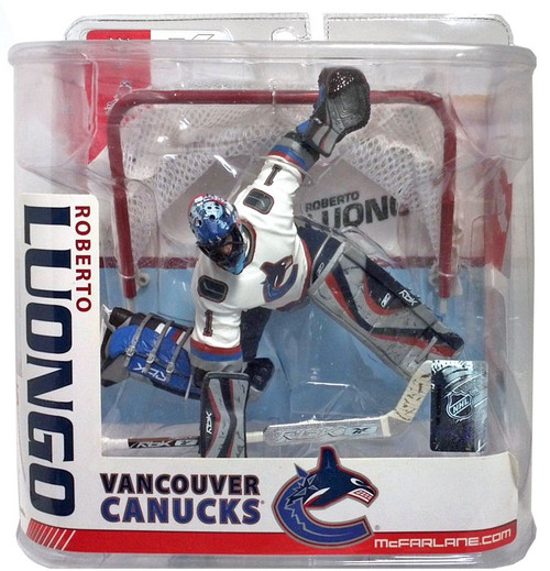 McFarlane Toys NHL Vancouver Canucks Sports Picks Series 15 Roberto Luongo Action Figure [White Jersey]