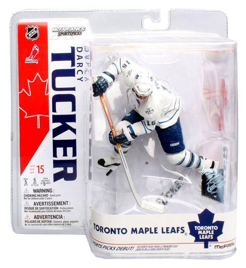McFarlane Toys NHL Toronto Maple Leafs Sports Picks Series 15 Darcy Tucker Action Figure [White Jersey]