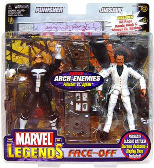 Marvel Legends Face Off Series 2 Punisher vs. Jigsaw Action Figure 2-Pack [Thin Skull Variant]