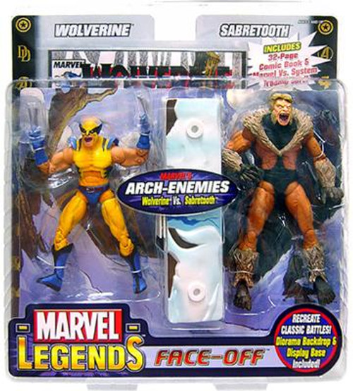 Marvel Legends Face Off Series 2 Wolverine vs. Sabretooth Action Figure 2-Pack [Yelling Variant]