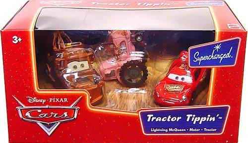 Disney Cars Supercharged Tractor Tippin' Diecast Car Set