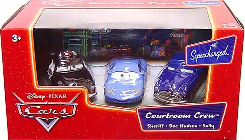 Disney Cars Supercharged Courtroom Crew Diecast Car Set