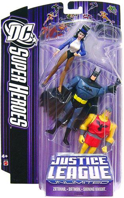 DC Justice League Unlimited Super Heroes Zatanna, Batman & Shining Knight Action Figures [Purple Card]