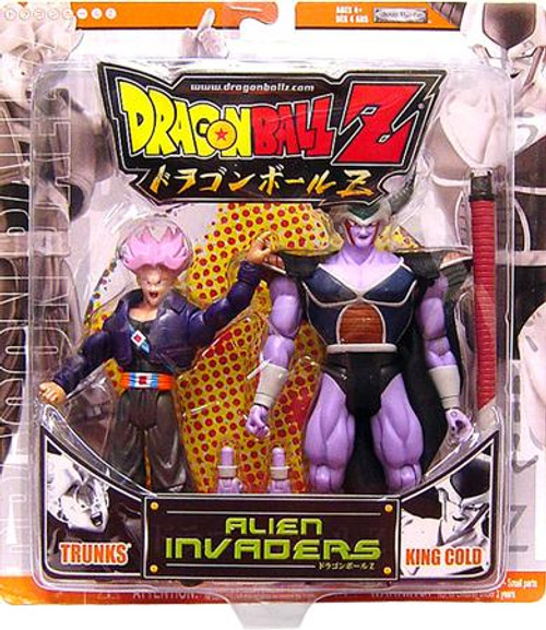 Dragon Ball Z Alien Invaders Trunks vs. King Cold Action Figure 2-Pack [Orange Package]