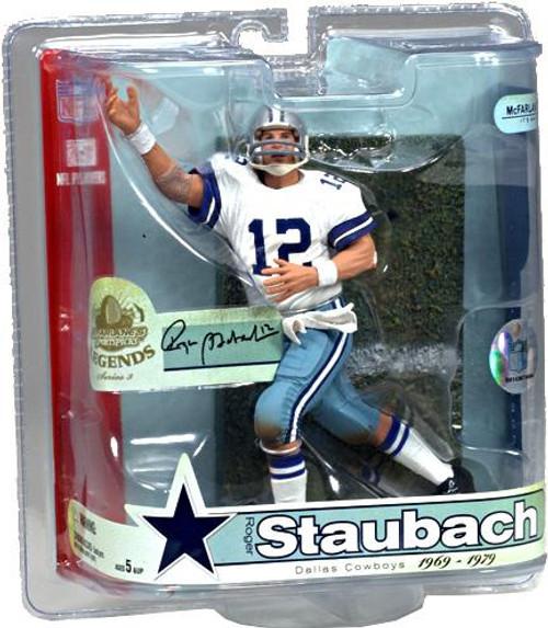 McFarlane Toys NFL Dallas Cowboys Sports Picks Legends Series 3 Roger Staubach Action Figure [Blue & White Striped Helmet]