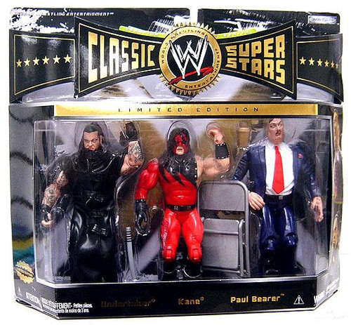 WWE Wrestling Classic Superstars Series 7 Undertaker, Kane & Paul Bearer Exclusive Action Figure 3-Pack