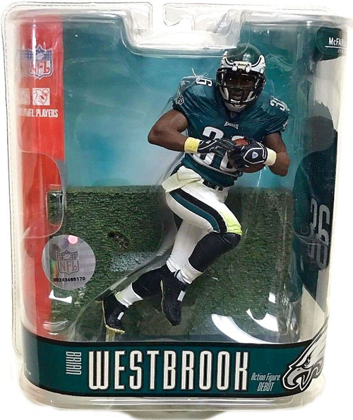 McFarlane Toys NFL Philadelphia Eagles Sports Picks Series 15 Brian Westbrook Action Figure
