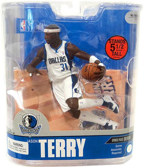 McFarlane Toys NBA Dallas Mavericks Sports Picks Series 13 Jason Terry Action Figure [White Jersey]