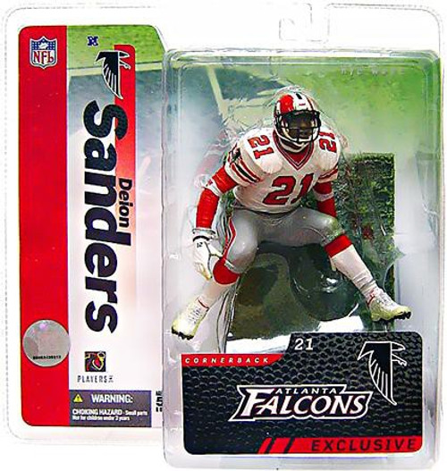 McFarlane Toys NFL Atlanta Falcons Sports Picks Collectors Club Deion Sanders Exclusive Action Figure [Falcons, White Jersey]