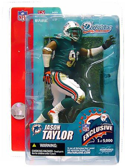 McFarlane Toys NFL Miami Dolphins Sports Picks Exclusive Jason Taylor Exclusive Action Figure [Super Bowl XLI]