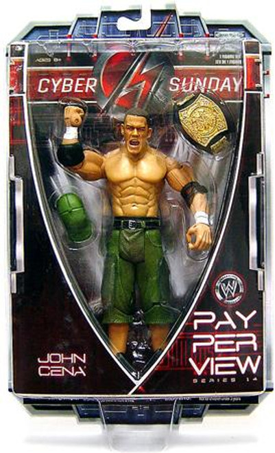 WWE Wrestling Pay Per View Series 14 Cyber Sunday John Cena Action Figure
