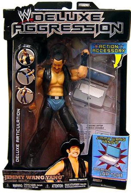 WWE Wrestling Deluxe Aggression Series 9 Jimmy Wang Yang Action Figure
