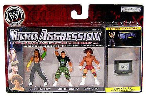 WWE Wrestling Micro Aggression Series 3 Mini Figure 3-Pack