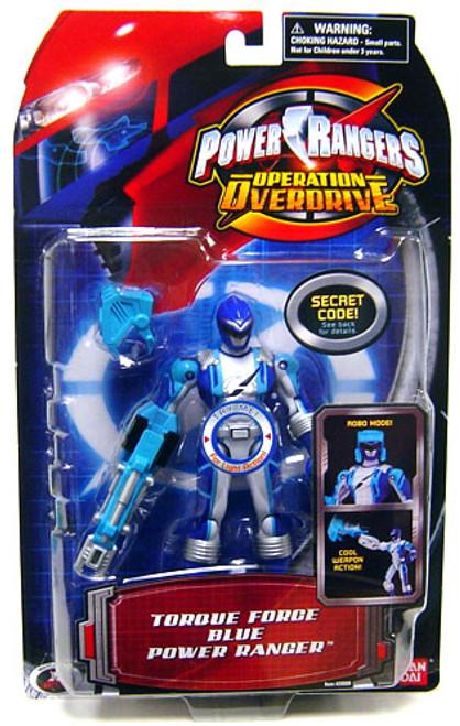Power Rangers Operation Overdrive Torque Force Blue Power Ranger Action Figure