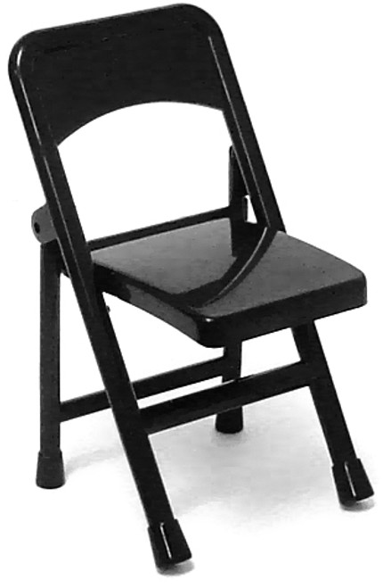 WWE Wrestling Folding Chair Action Figure Accessory [Black Loose]