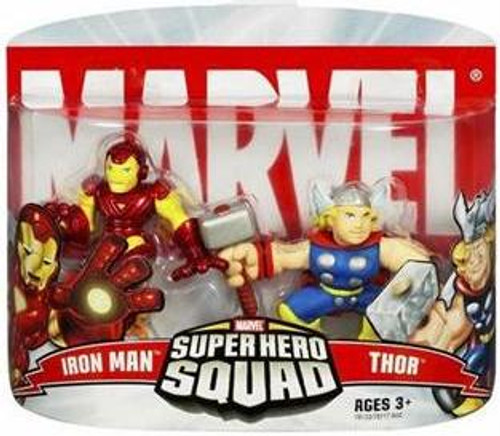 Marvel Super Hero Squad Series 2 Iron Man & Thor Action Figure 2-Pack