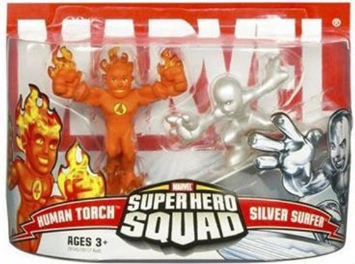 Marvel Super Hero Squad Series 3 Human Torch & Silver Surfer Action Figure 2-Pack