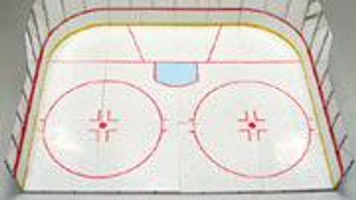 McFarlane Toys NHL Sports Picks Exclusive Hockey Rink Exclusive Action Figure Playset [Half Rink]