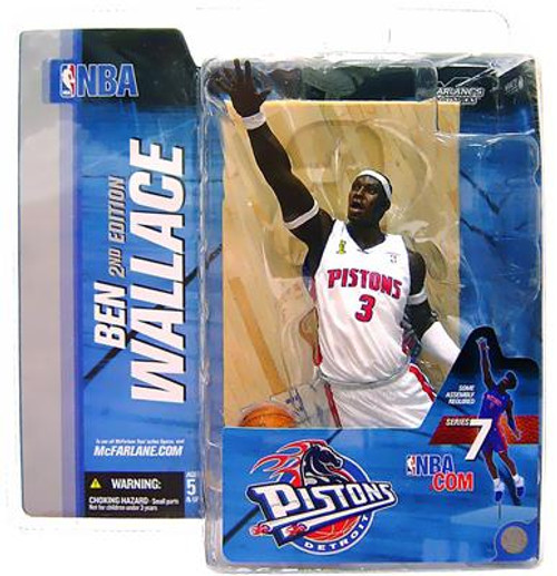 McFarlane Toys NBA Detroit Pistons Sports Picks Series 7 Ben Wallace Action Figure [White Jersey Corn Row Variant]