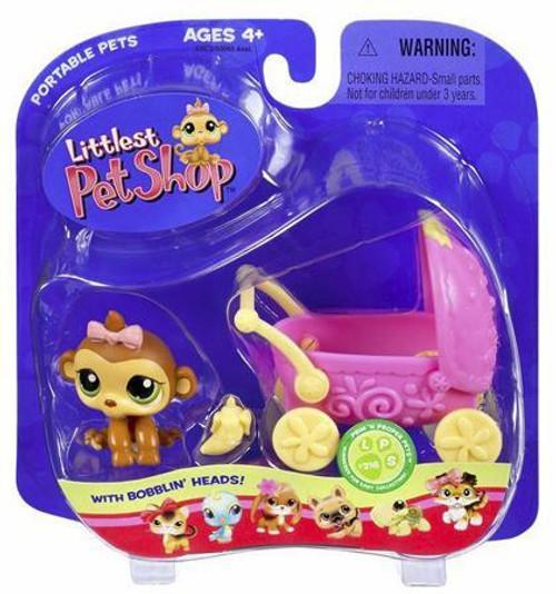 Littlest Pet Shop Monkey with Stroller Set