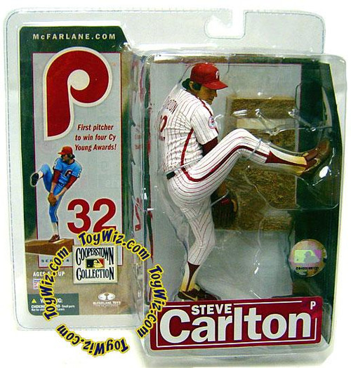 McFarlane Toys MLB Philadelphia Phillies Cooperstown Collection Series 4 Steve Carlton Action Figure [Pinstripes]