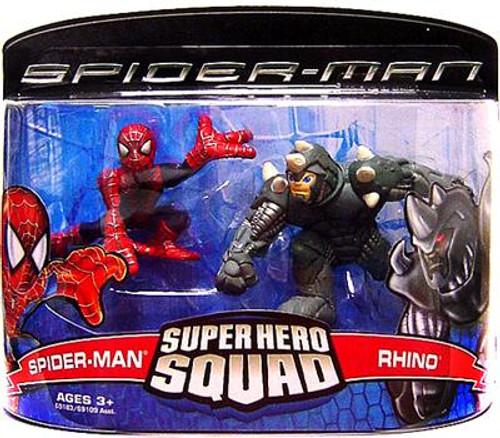 Spider-Man Movie Super Hero Squad Spider-Man & Rhino Action Figure 2-Pack
