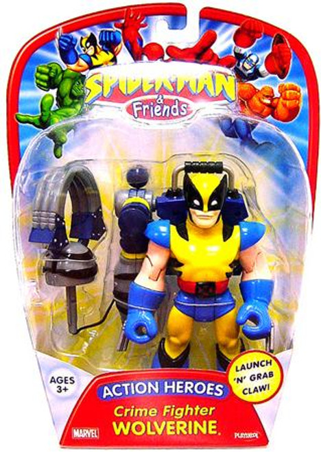 Spider-Man & Friends Action Heroes Crime Fighter Wolverine Action Figure
