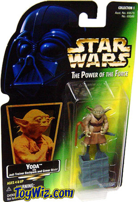 Star Wars The Empire Strikes Back Power of the Force POTF2 Collection 1 Yoda w/ Jedi Trainer Backpack and Gimer Stick Action Figure [Hologram Card]