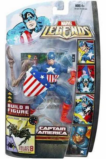 Marvel Legends Series 18 Brood Queen Captain America Action Figure [Golden Age]
