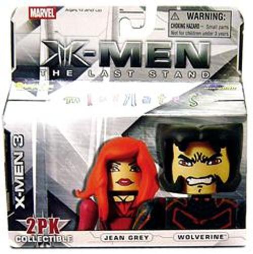 Marvel X-Men The Last Stand Minimates Series 14 Wolverine & Jean Grey Minifigure 2-Pack