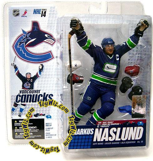 McFarlane Toys NHL Vancouver Canucks Sports Picks Series 14 Markus Naslund Action Figure [Retro Blue & Green Jersey Variant]
