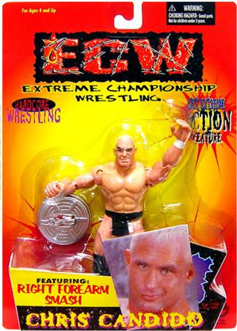 ECW Wrestling Champion Clashers Right Forearm Smash Chris Candido Action Figure