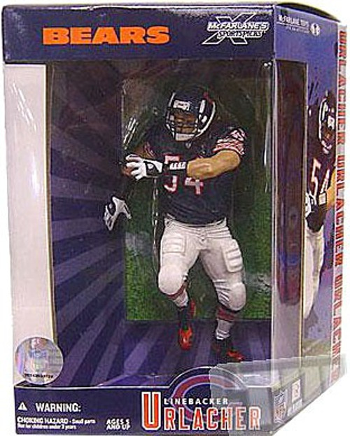 McFarlane Toys NFL Chicago Bears Sports Picks Exclusive Brian Urlacher Exclusive Action Figure [Super Bowl Collector's Edition]